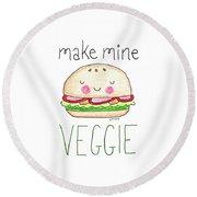 Make Mine Veggie Round Beach Towel