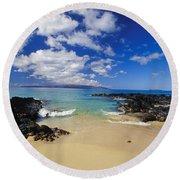 Makena, Secret Beach Round Beach Towel