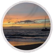 Makena Sunset Round Beach Towel