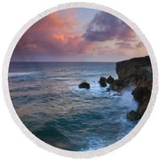 Makewehi Sunset Round Beach Towel