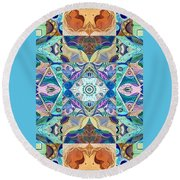 Making Magic - A  T J O D  Arrangement Inverted Round Beach Towel