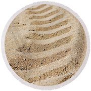 Making Tracks Round Beach Towel