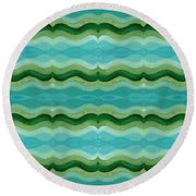 Making Waves Round Beach Towel
