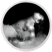 Male Dream Round Beach Towel by Mark Ashkenazi