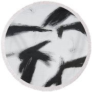 Male Front Round Beach Towel