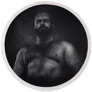 Male Nude 9. Boris.  Round Beach Towel