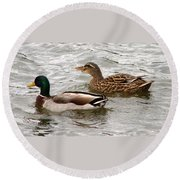 Mallard Duo Round Beach Towel