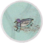 Mallards Edge Round Beach Towel