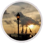 Mallory Square Key West Round Beach Towel