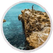 Maltese Dream Round Beach Towel