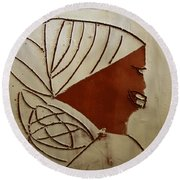 Mama 3 - Tile Round Beach Towel