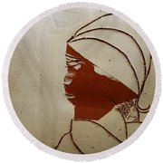 Mama 4 - Tile Round Beach Towel