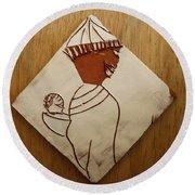 Mama 9 - Tile Round Beach Towel