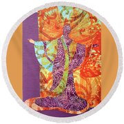 Mama Butterfly Round Beach Towel