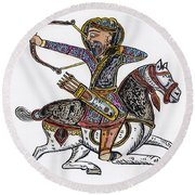 Mameluke Archer, C1300 Round Beach Towel