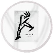 Man About Town Round Beach Towel
