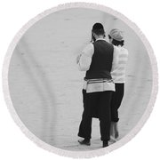 Man And Woman Round Beach Towel