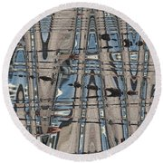 Man At The Lake Round Beach Towel