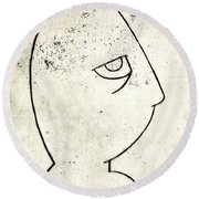 man Round Beach Towel