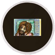 Man Without Hope Round Beach Towel