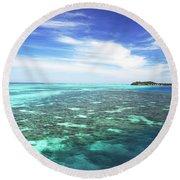 Mana Island Waters Round Beach Towel