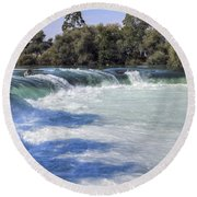 Manavgat Waterfall - Turkey Round Beach Towel