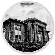 Manayunk Branch Of The Free Library Of Philadelphia Round Beach Towel