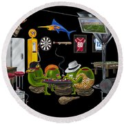 Mancave Round Beach Towel