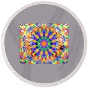 Mandala 4 Round Beach Towel