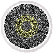 Mandala - Amulet 866 For Those Born In ..... Round Beach Towel