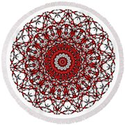Mandala - Amulet 868 For Those Born In ..... Round Beach Towel