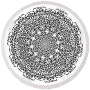 Mandala - Amulet 869 For Those Born In ..... Round Beach Towel