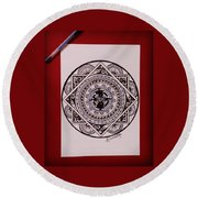 Mandala Art Round Beach Towel