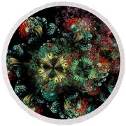 Mandala Color Dreams Round Beach Towel