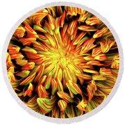 Mandala Flower  Round Beach Towel