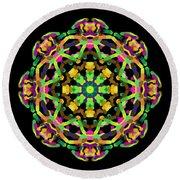 Mandala Image #14 Created On 2.26.2018 Round Beach Towel