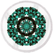 Mandala Image #5 Created On 2.26.2018 Round Beach Towel