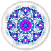 Mandala Image #7 Created On 2.26.2018 Round Beach Towel