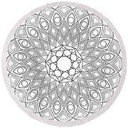 Mandala No 2 Round Beach Towel