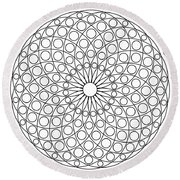 Mandala No 3 Round Beach Towel