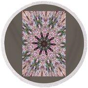 Mandala Of Cherry Blossom Round Beach Towel