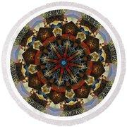 Mandala - Talisman 1123 - Order Your Talisman. Round Beach Towel