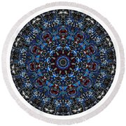 Mandala - Talisman 962 For Those Born In ..... Round Beach Towel