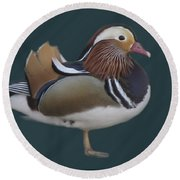 Mandarin Duck II Round Beach Towel