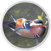 Mandarin Duck Round Beach Towel