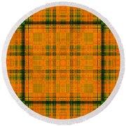 Mandoxocco-wallpaper-orange-green Round Beach Towel