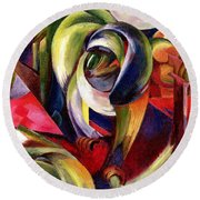 Mandrill Round Beach Towel