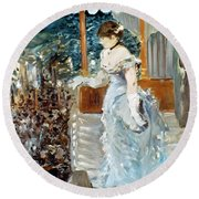 Manet: Cafe-concert, 1879 Round Beach Towel