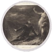 Manfred And Astarte (2nd Plate) Round Beach Towel
