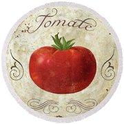Mangia Tomato Round Beach Towel